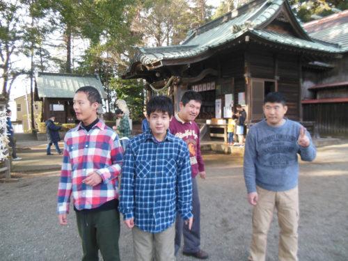 五社神社に初詣