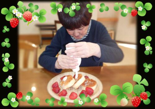 パンケーキのデコレーション